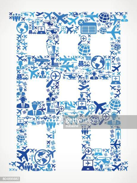 Building  Aviation and Air Planes Vector Graphic