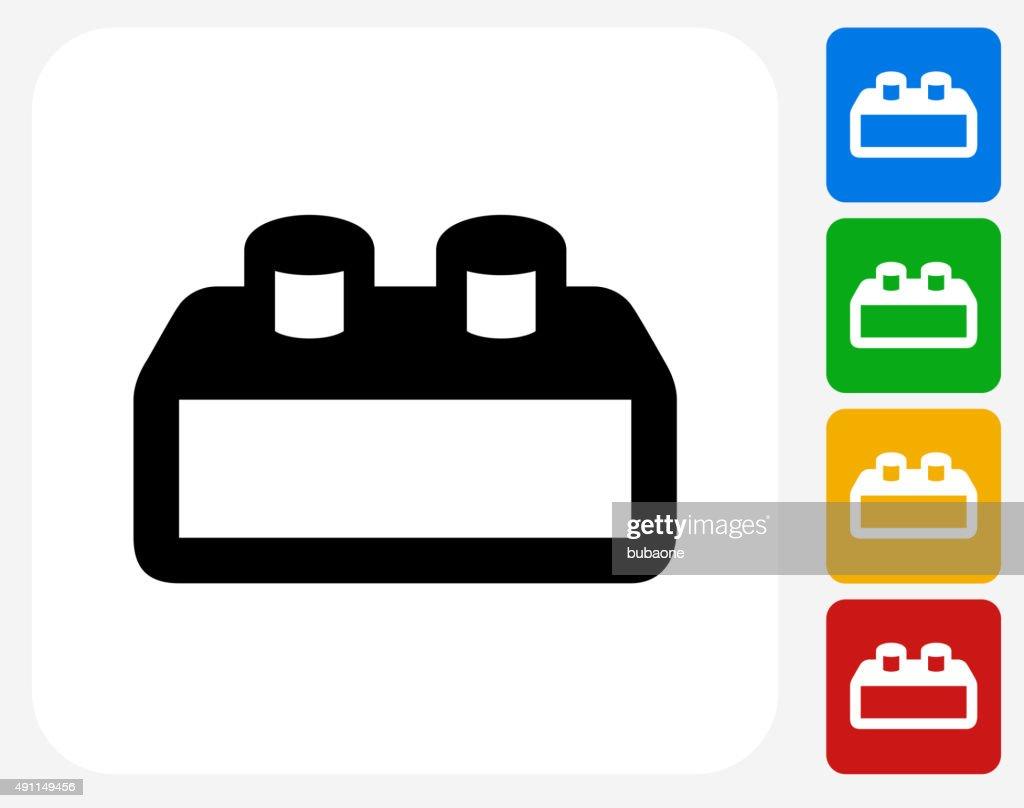 Building Block Icon Flat Graphic Design