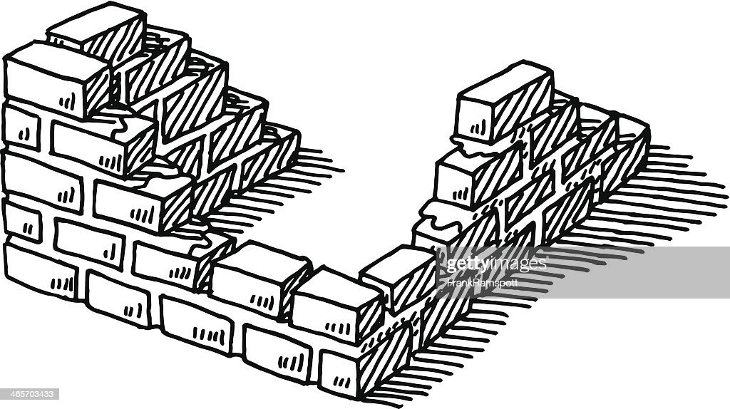 Building Brickwall Construction Drawing