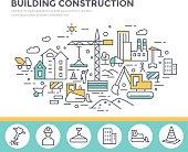 Building construction concept illustration.
