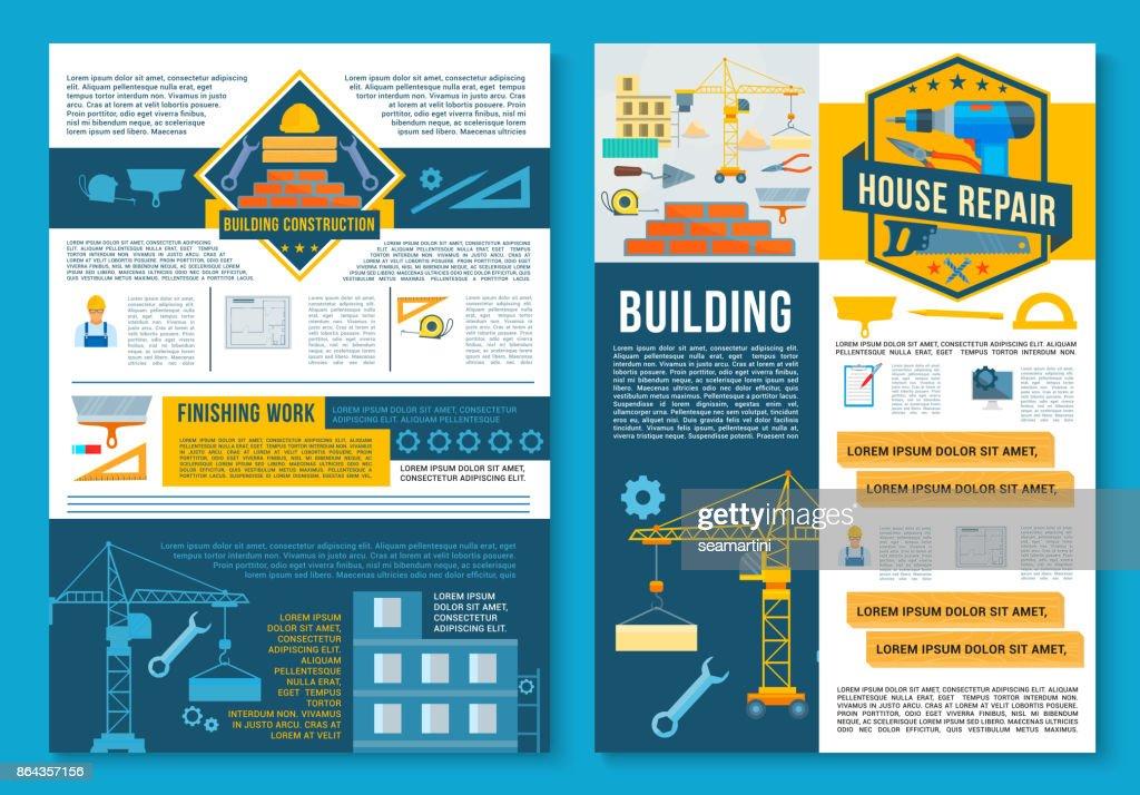 Building construction, home repair poster design