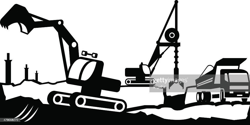 Building excavation and transport equipment