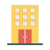 building flat vector icon