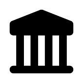 building Glyphs Vector Icon