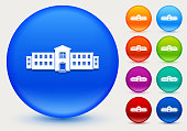 building icon shiny color circle buttons