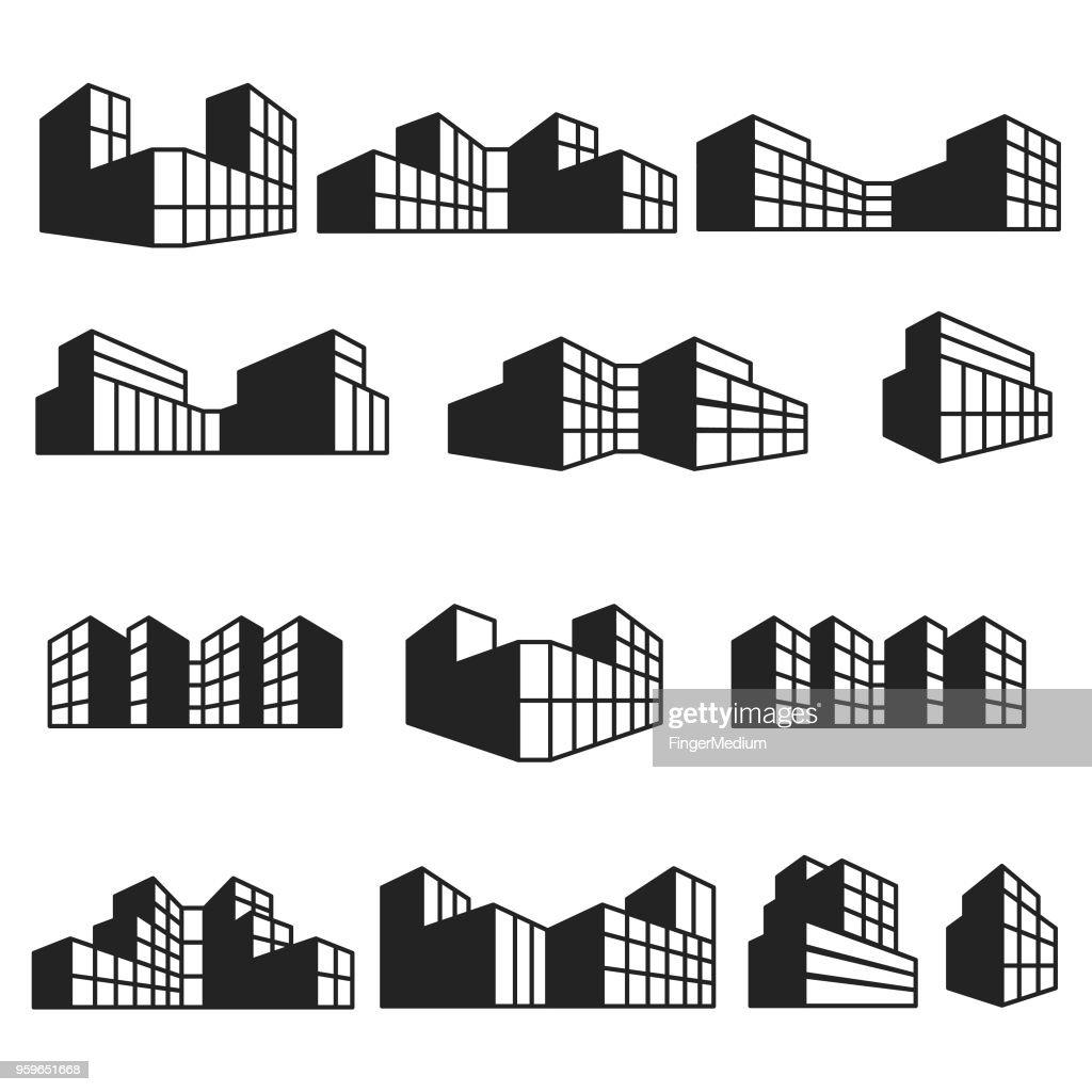 Gebäude icon-set : Stock-Illustration