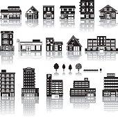 Building icon / silhouette