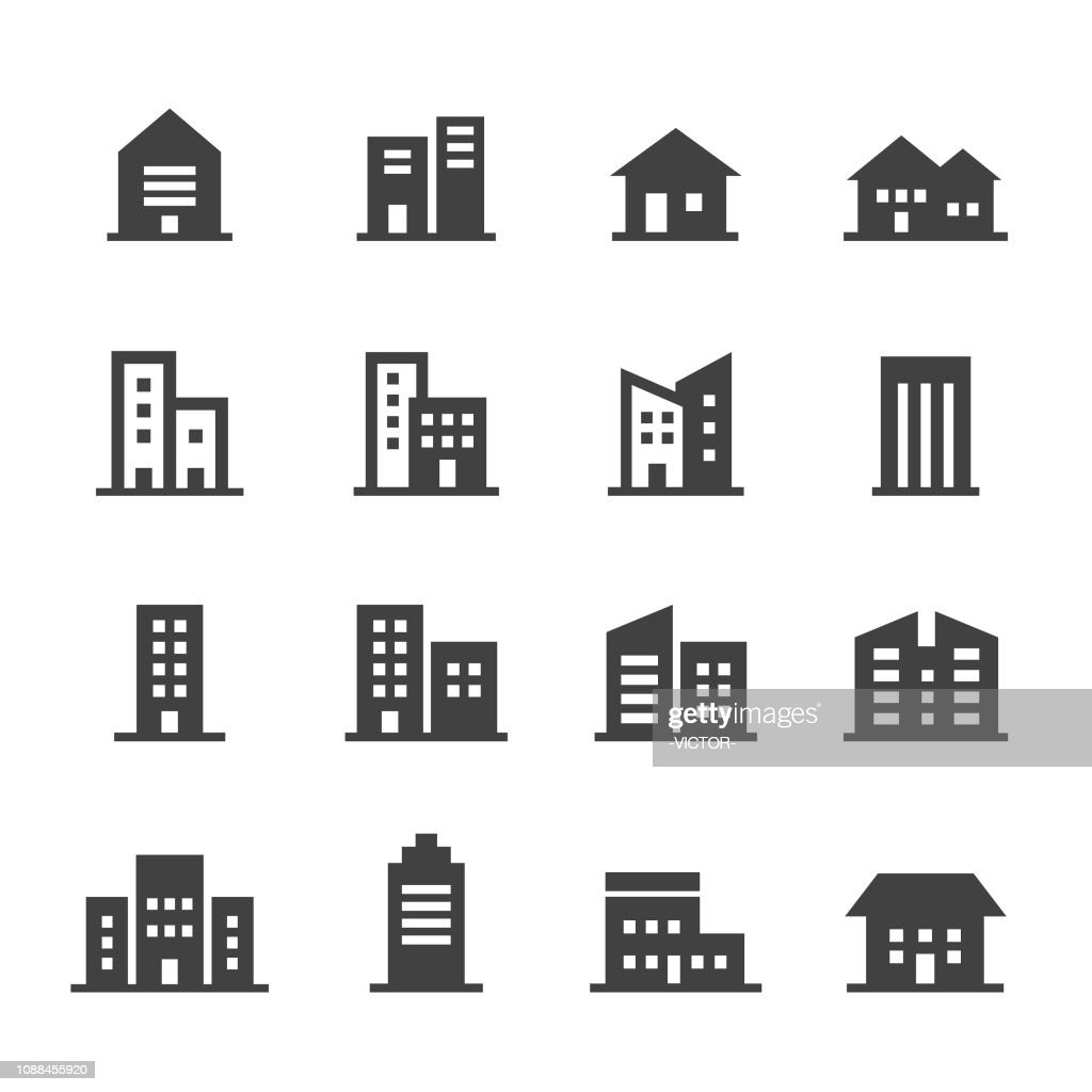Building Icons - Acme Series : Stock Illustration
