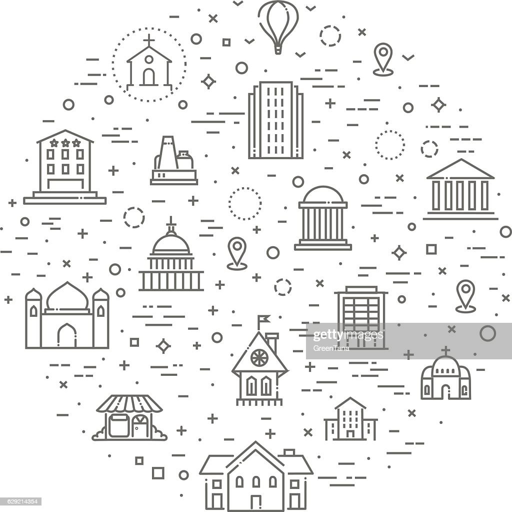 Building Icons set, Government