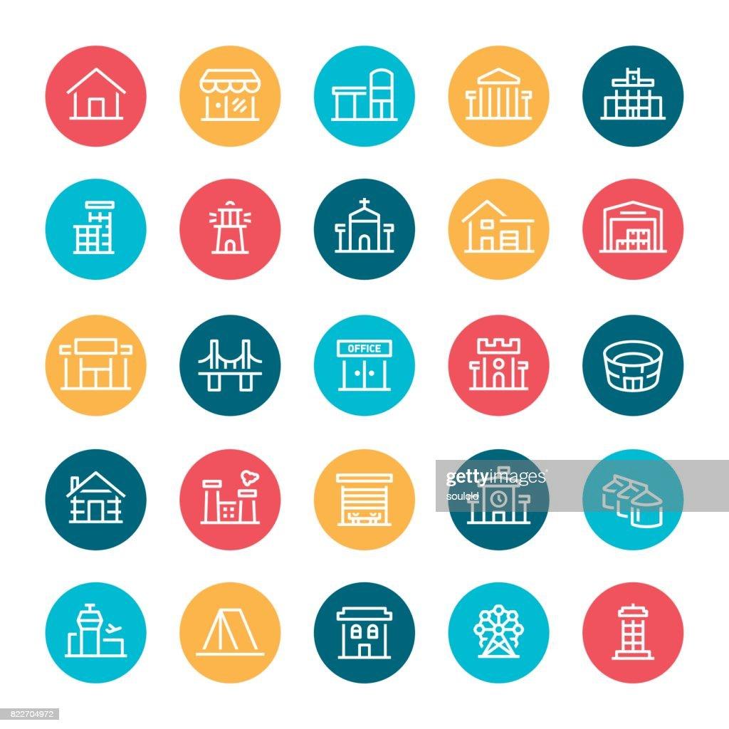 Building Icons : stock illustration