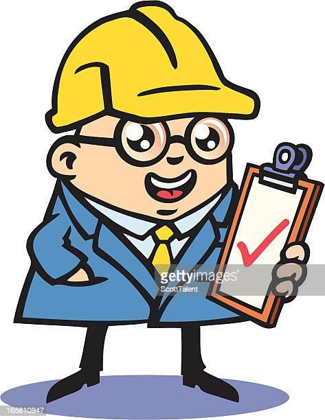 building inspector - inspector stock illustrations, clip art, cartoons, & icons