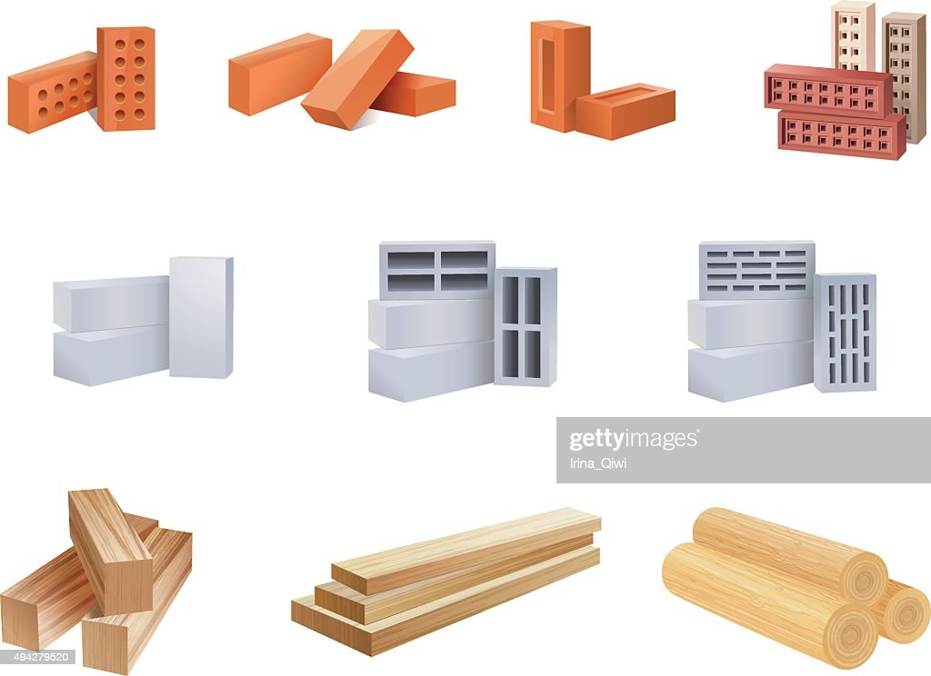 Building Materials Icons - Illustration