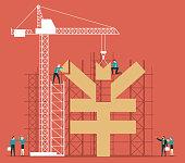 Building money - Yen symbol