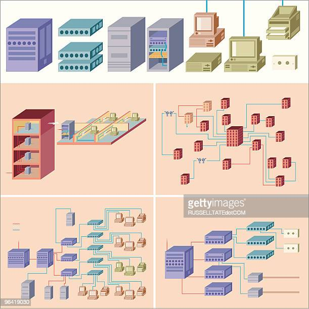 building networks #2 - ethernet cable stock illustrations, clip art, cartoons, & icons