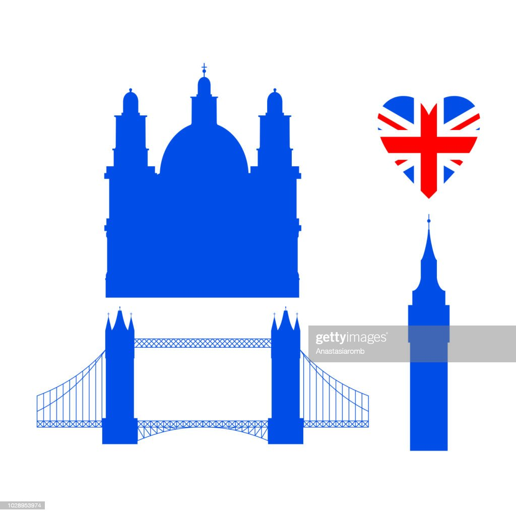 Building of United Kingdom, London travel icon landmark. City architecture England. Great Britain travel sightseeing