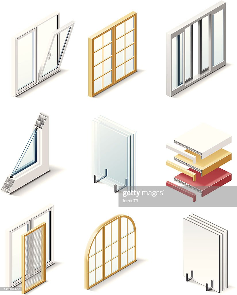 Building products icons. Windows