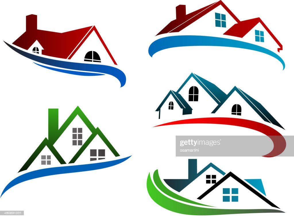 Building symbols with home roofs