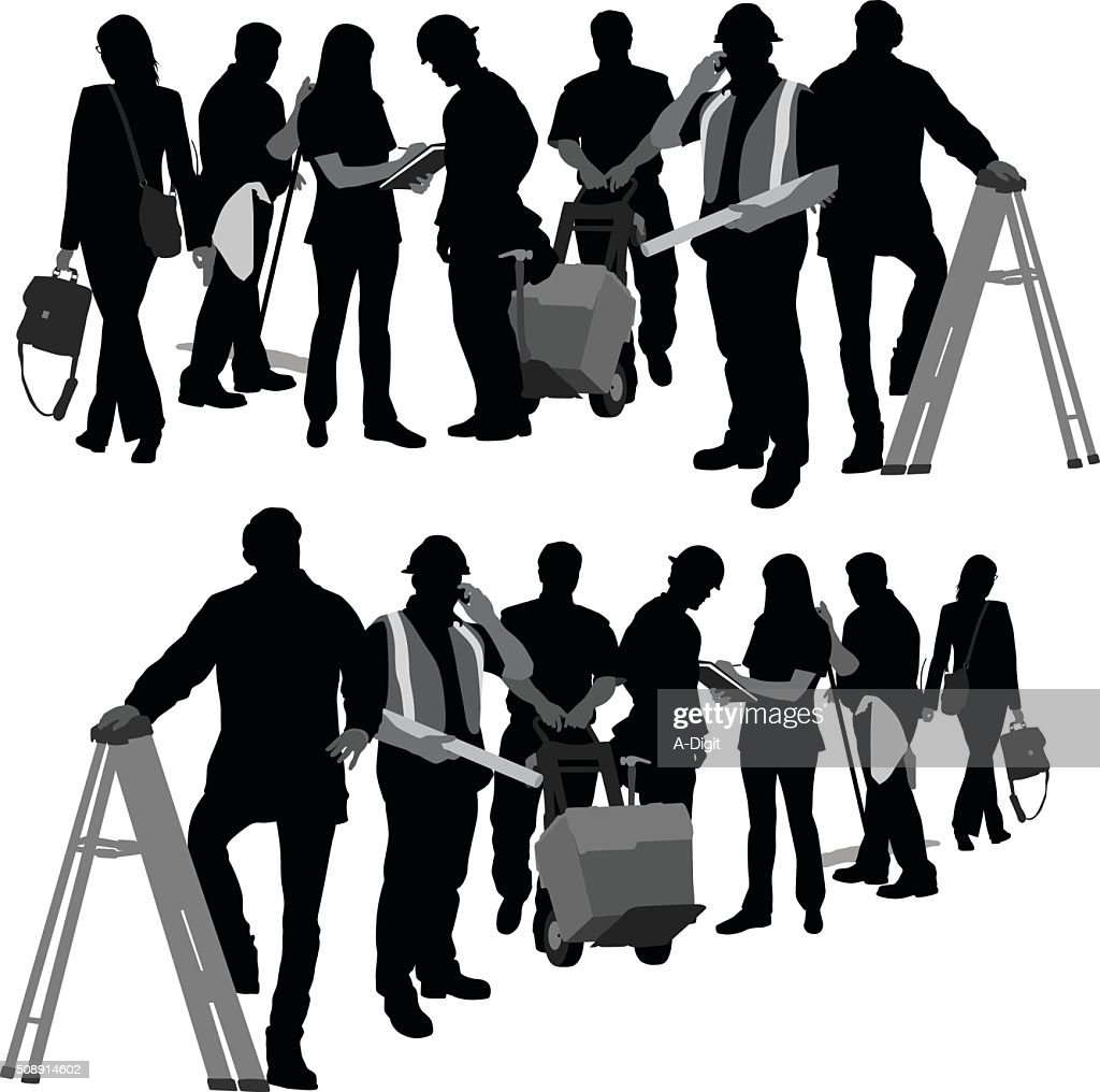 Building Team : stock illustration