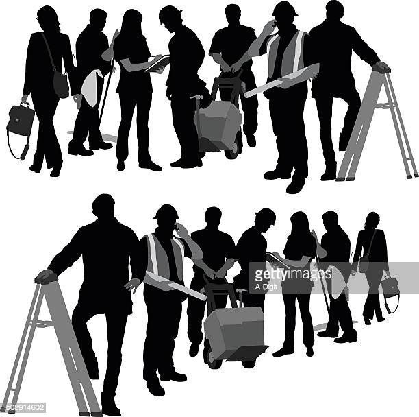 building team - white collar worker stock illustrations, clip art, cartoons, & icons