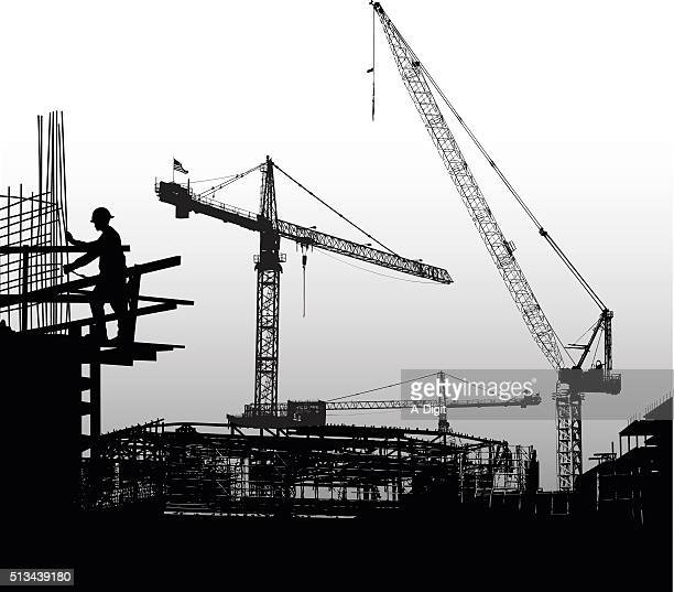 building the foundations - rod stock illustrations, clip art, cartoons, & icons