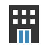 building thin line vector icon