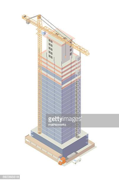 Building under construction illustration