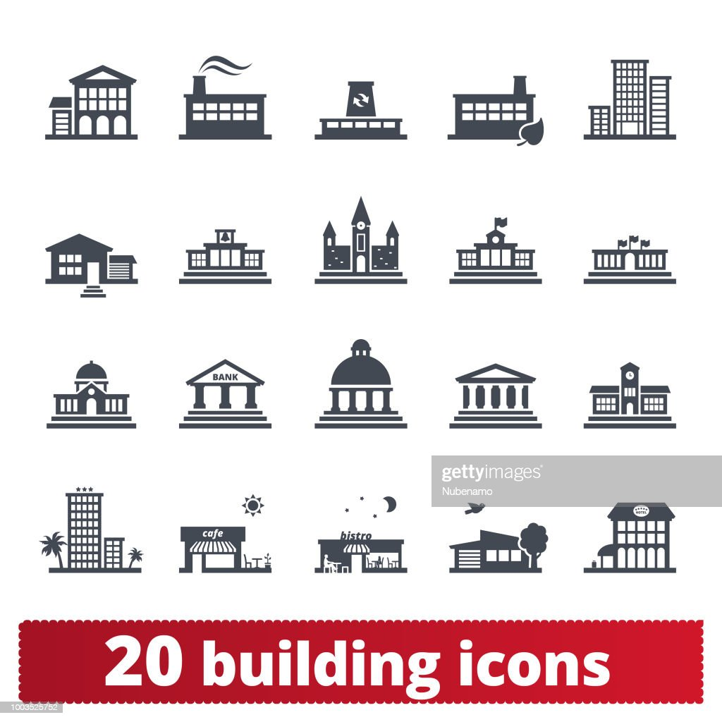 Building Vector Icons Collection