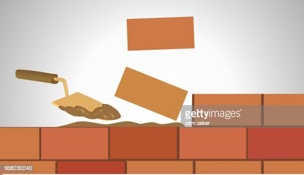 building wall - brick stock illustrations