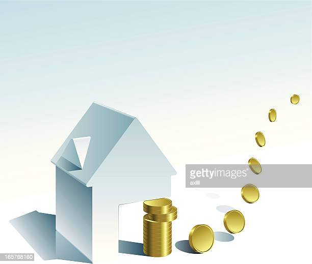building_saving - finanzplanung stock-grafiken, -clipart, -cartoons und -symbole
