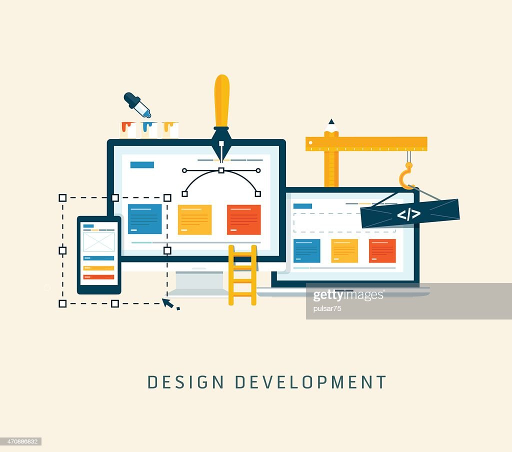 Building/Designing a website or application.