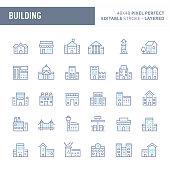 Buildings & Architecture Vector Icon Set (EPS 10)