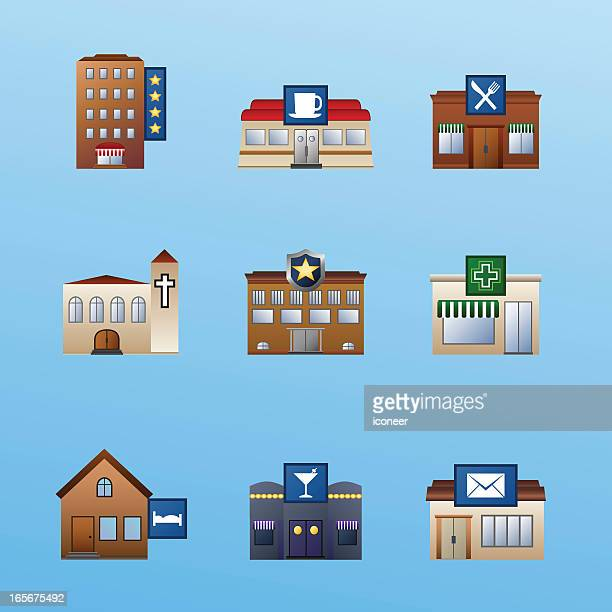 buildings icon set 3