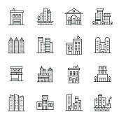 Buildings Icon Set