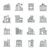 Buildings Icon Set