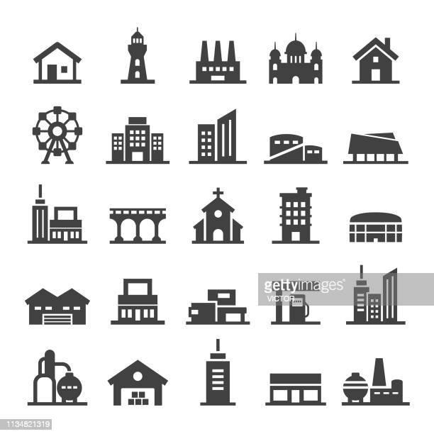 建物アイコン-スマートシリーズ - 丸屋根点のイラスト素材/クリップアート素材/マンガ素材/アイコン素材