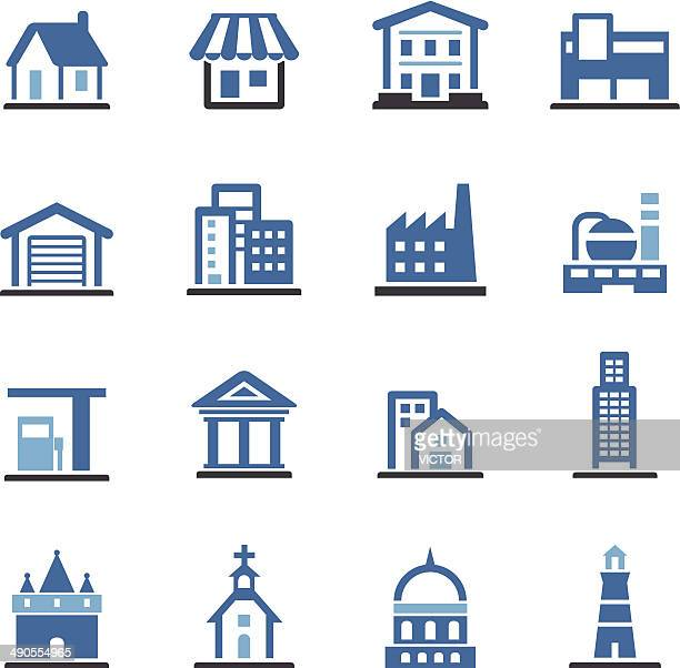 Buildings Icons - Conc Series