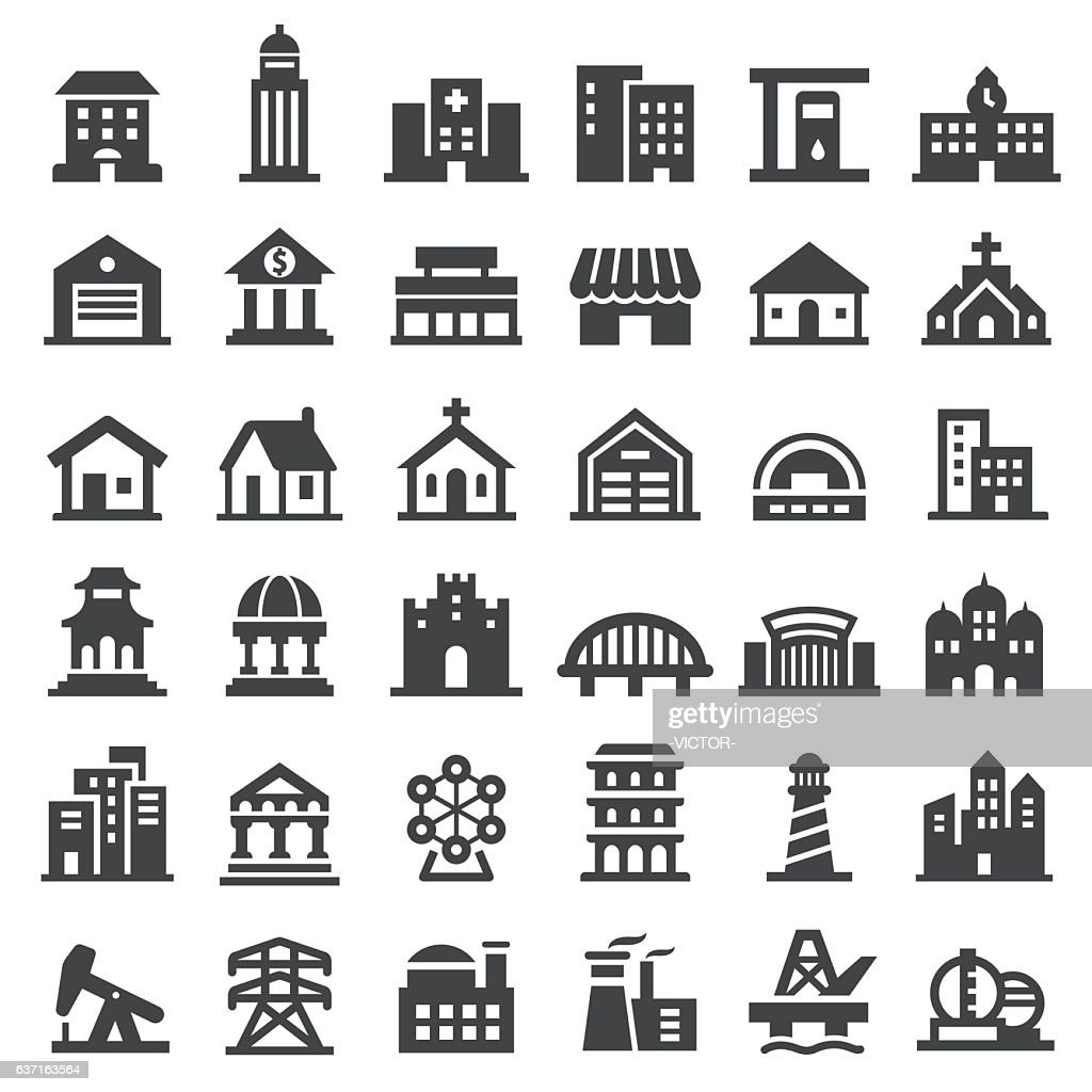 Buildings Icons Set - Big Series