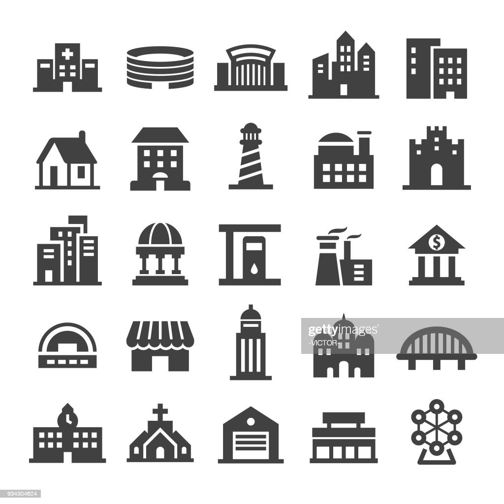 Buildings Icons - Smart Series : stock illustration