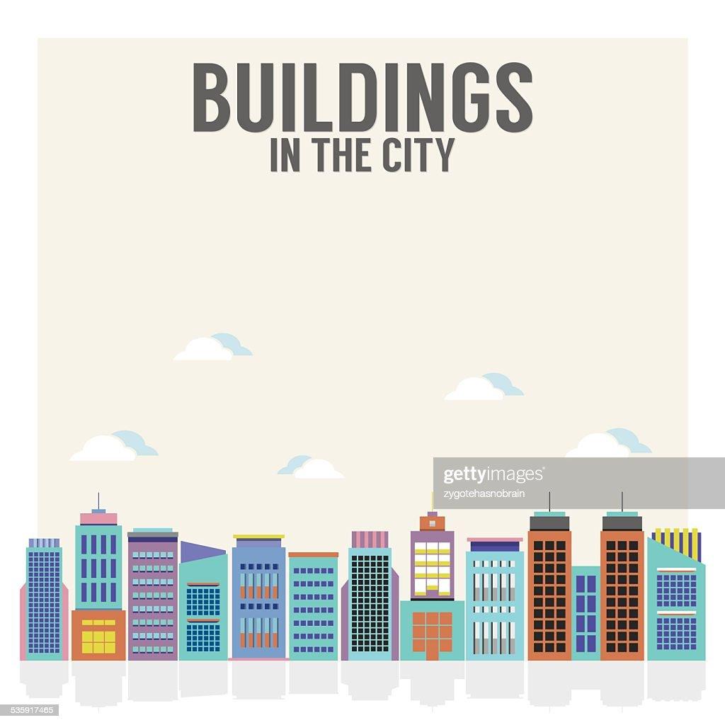 Edifícios na Cidade : Arte vetorial