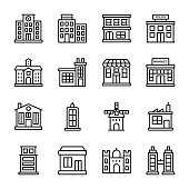 Buildings Line Icons Pack