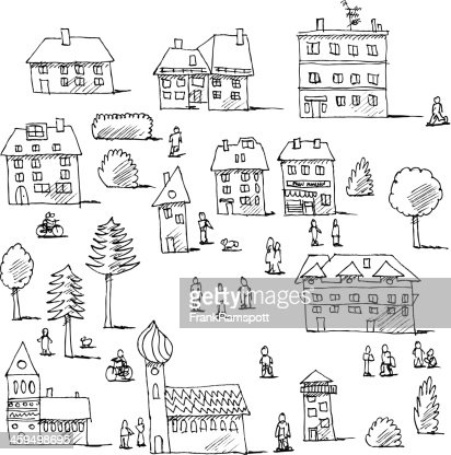 rural community coloring pages - photo#18