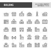 Buildings Vector Icon Set