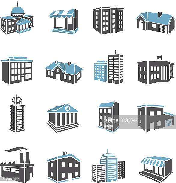 3d buildings - human settlement stock illustrations, clip art, cartoons, & icons