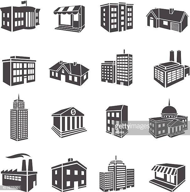3d buildings - house exterior stock illustrations, clip art, cartoons, & icons