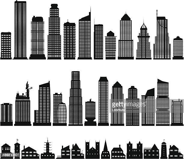 buildings - skyscraper stock illustrations
