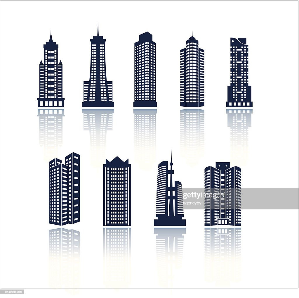 Buildings vector silhouettes