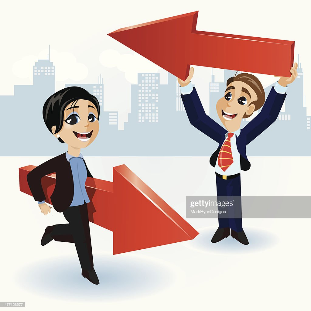 Buiness Direction : stock illustration