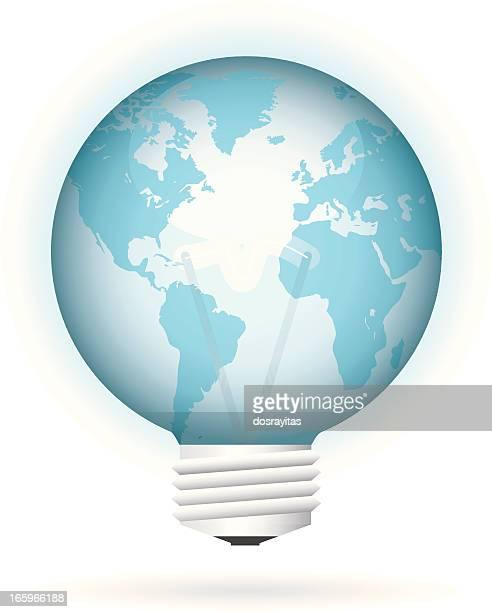 bulb earth - translucent stock illustrations