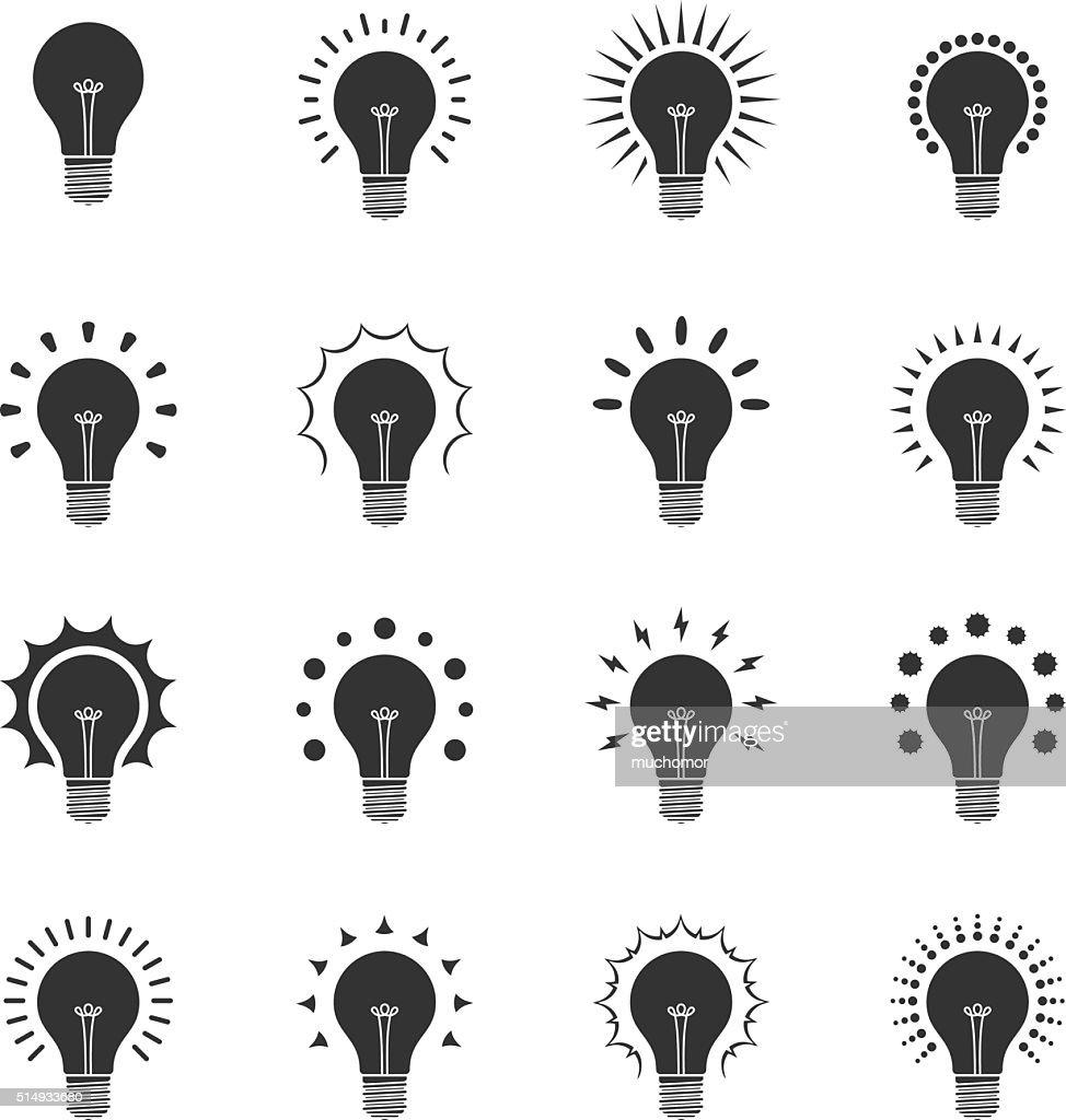 Bulb glare Icons | black series
