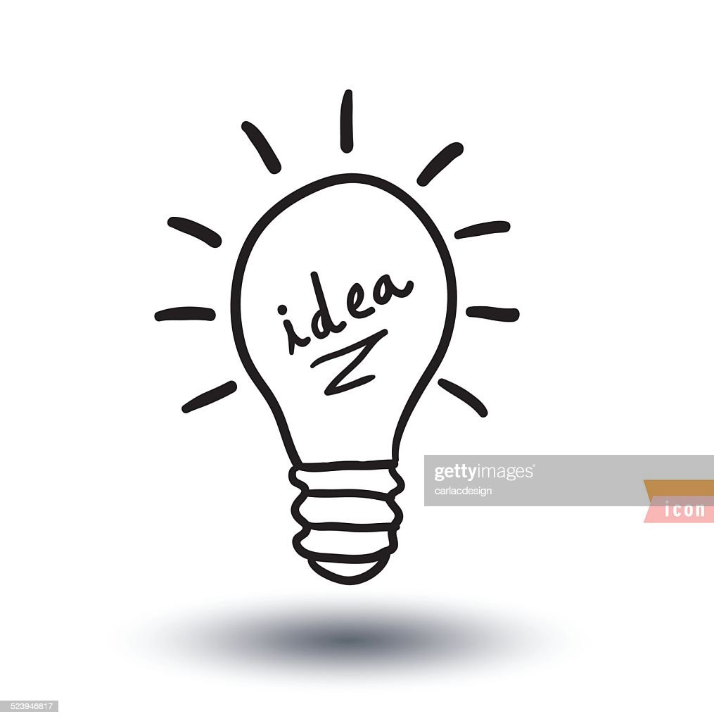 bulb  idea icon, vector illustration